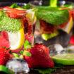 Eine leckere Erdbeer Limo in Uelzen trinken.