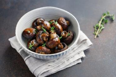 Leckere gebratene Champignons aus Uelzen genießen.