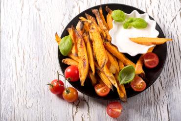 Leckere Süßkartoffelpommes aus Uelzen.